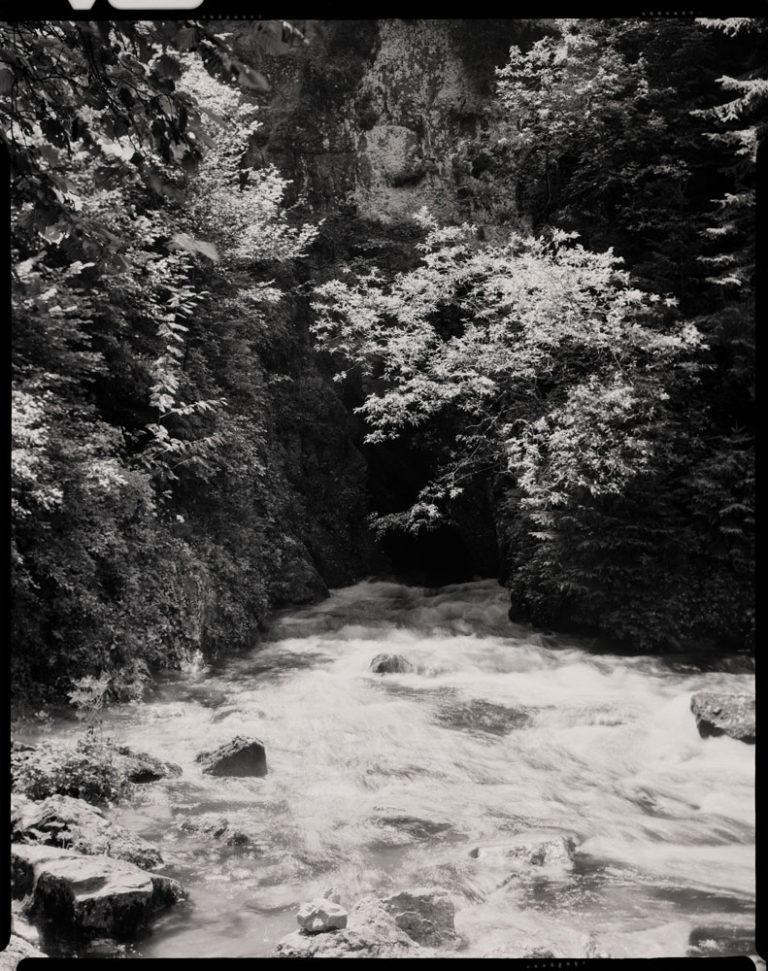 La source du Doubs # 1, à Mouthe, village au cœur du massif du Jura, situé dans le département du Doubs, région Franche-Comté.