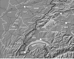 Figure 1 : L'Arc jurassien transfrontalier