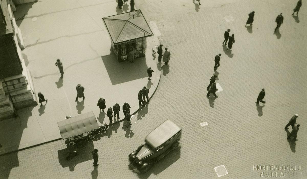 Jean Schelling (1901-1978)  Coiffure Schenk, Neuchâtel, 1955  À partir du négatif au gélatino-bromure d'argent sur support polyester Musée régional du Val-de-Travers, Môtiers