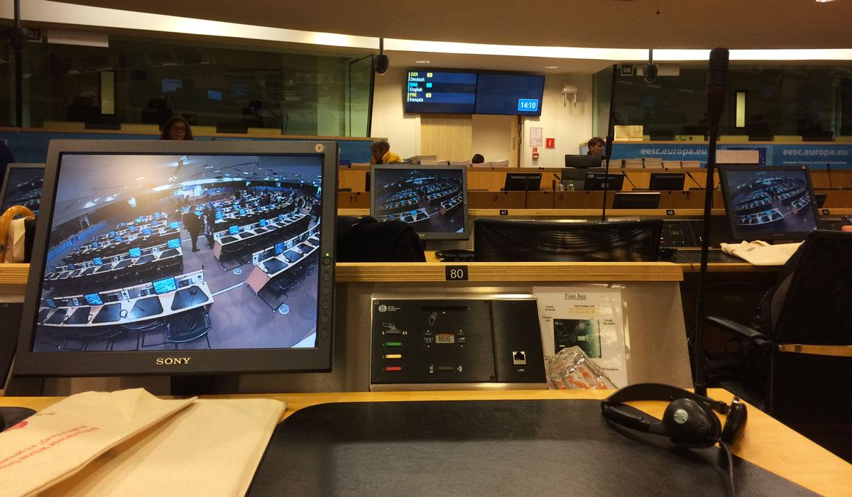Place No 80, Salle du Comité des Régions ©Marcel Schiess