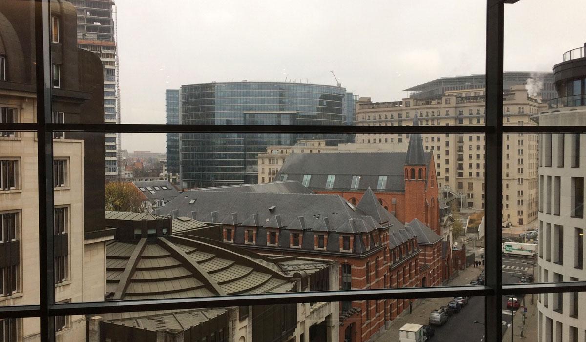 Bruxelles, vue extérieure depuis le Comité des Régions de l'UE ©Marcel Schiess