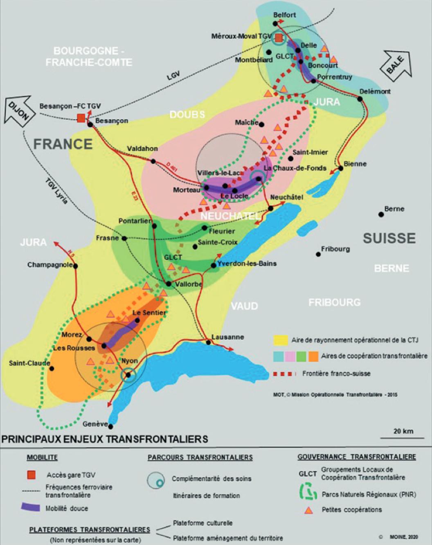 Les enjeux transfrontaliers dans l'arc jurassien